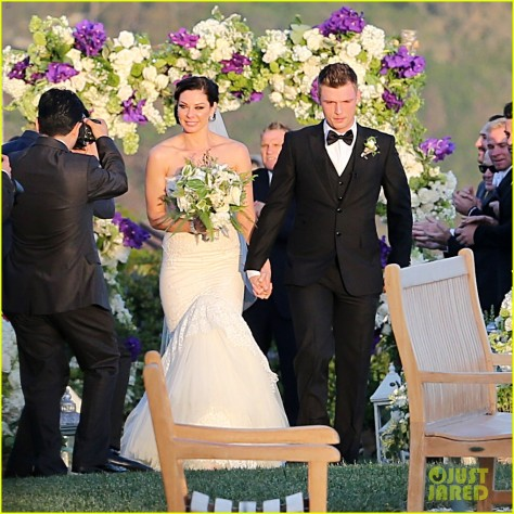 Nick Carter Gets Married to fiance Lauren Kitt in Santa Barbara.