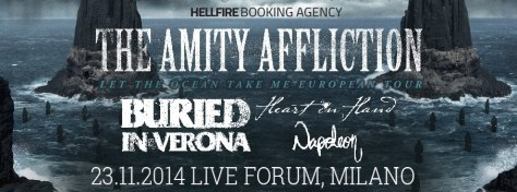The Amity Affliction + Buried In Verona + Heart In Hand + Napoleon in Italia!