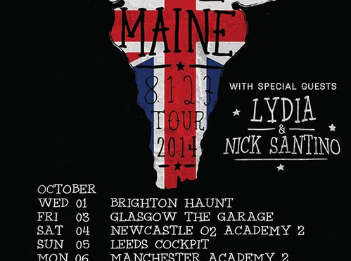 """You should have… with A Rocket To The Moon"" – The Maine, Lydia, Nick Santino @Academy 3, Manchester 6-10-2014"