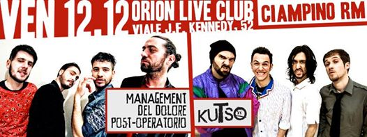 Management del Dolore Post-Operatorio + kuTso @Orion Club, Ciampino (RM) 12-12-14