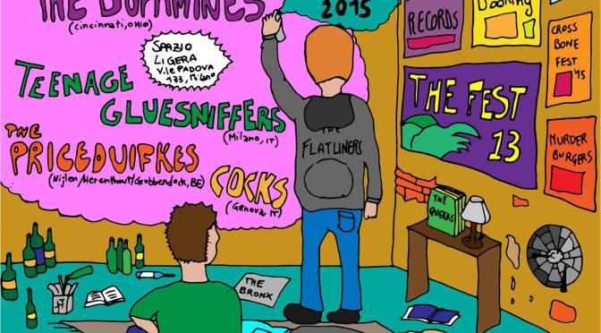 The Dopamines w/ Priceduifkes, Teenage Gluesniffers & Cocks @ Ligera, Milano