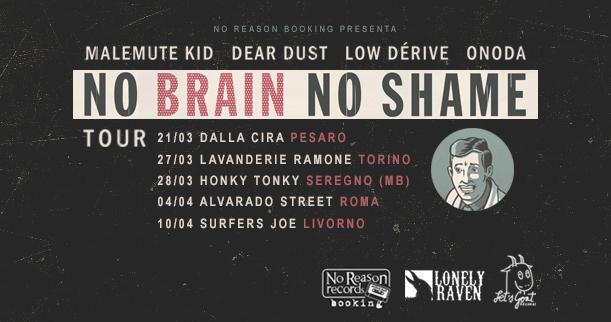 No Brain No Shame Tour @ Surfer Joe, Livorno 10-04-15