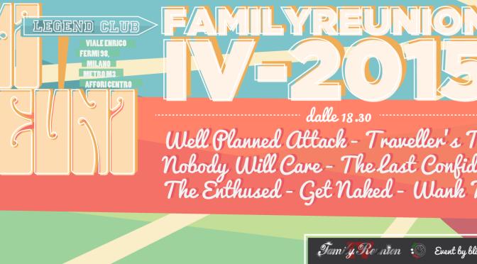 Family Reunion Part 4: ecco la lineup