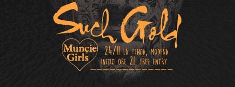 Such Gold + Muncie Girls live @ La Tenda, Modena 24/11/2015
