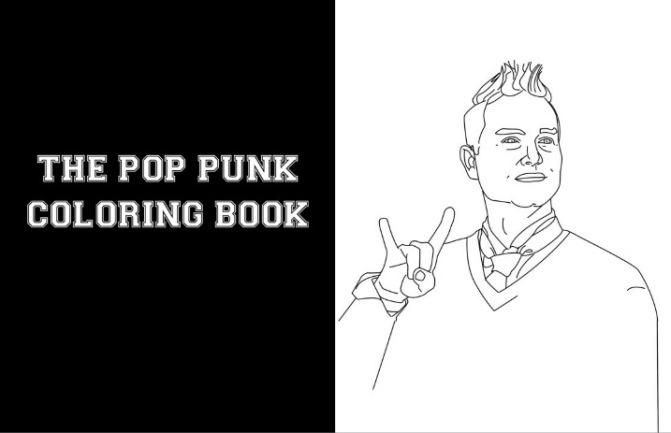 Ecco l'album da colorare pop punk