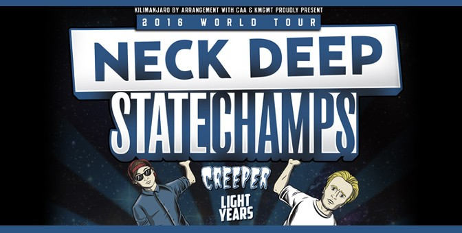 Neck Deep, State Champs, Creeper, Light Years @ O2 Forum, Londra 6/02/2016
