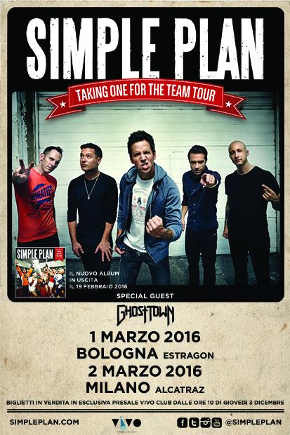 Simple Plan @Alcatraz, Milano 02-01-16