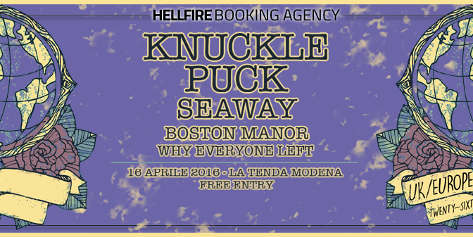 Knuckle Puck + Seaway + Boston Manor + Why Everyone Left @ La Tenda, Modena 16/04/2016
