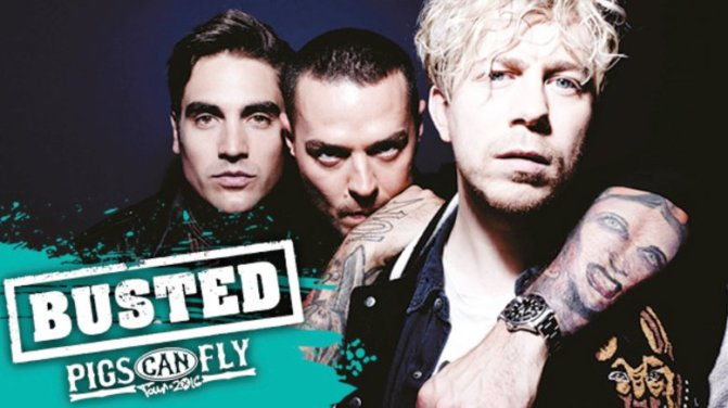 BUSTED Pigs Can Fly Tour @The 02, Londra 28-05-16