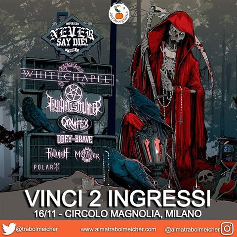 CONTEST: VINCI 2 BIGLIETTI PER IMPERICON NEVER SAY DIE! TOUR 2016 – MILANO
