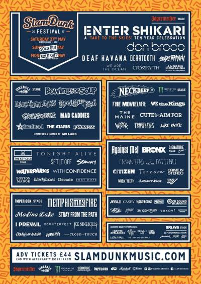 slam dunk festival 2017 flyer