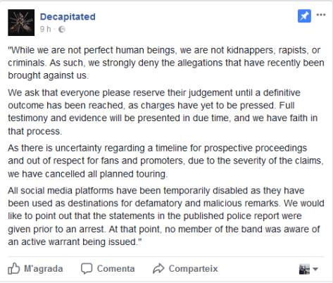 decapitated statemente