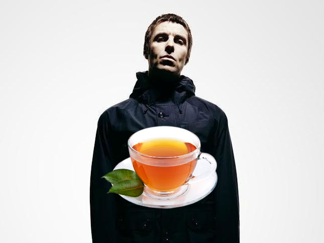 Liam Gallagher che si lamenta + il consumo di tè nel Regno Unito
