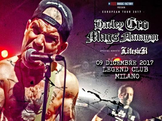 HARLEY CRO-MAGS FLANAGAN: l'artista presenta la sua autobiografia al Legend Club di Milano