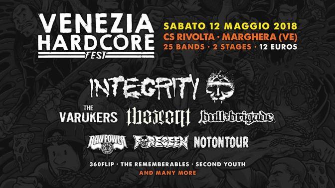 Venezia Hardcore 2018: annunciate le prime band
