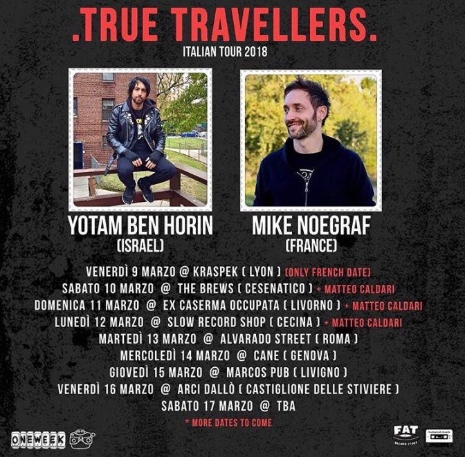 Yotam e Mike Noegraf in Italia!