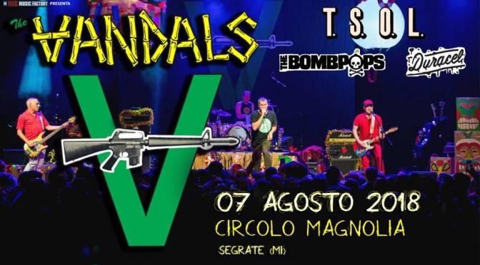 The Vandals: si aggiungono i T.S.O.L. alla lineup dell'unica data italiana