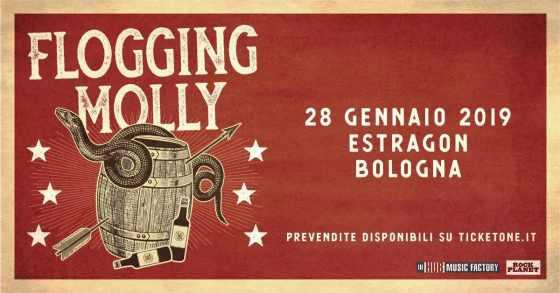 Flogging Molly 28 gennaio 2019 Estragon Bologna