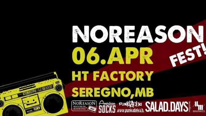 NoReason Fest: ecco la lineup completa della prima edizione