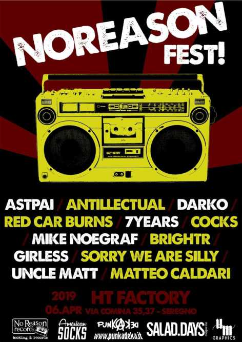 Locandina NoReason Fest 2019