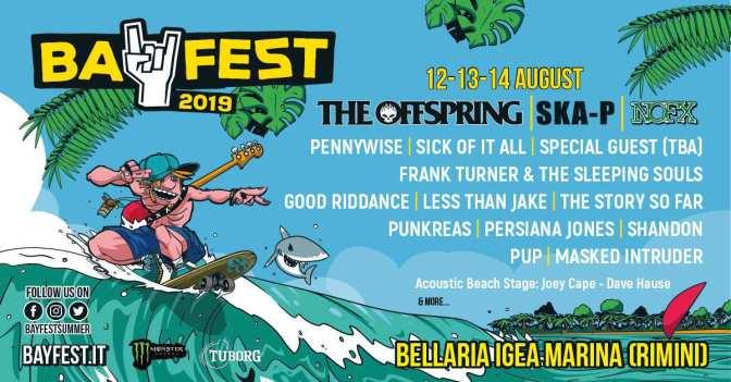 Bay Fest 2019, lineup con palco acustico